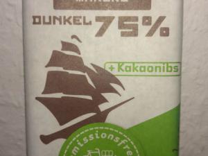 CHOKOLATE MAKERS Dunkel 75% + Kakaonibs